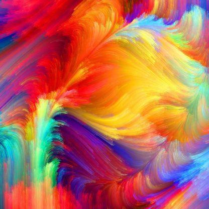 rendkívül színes festmény