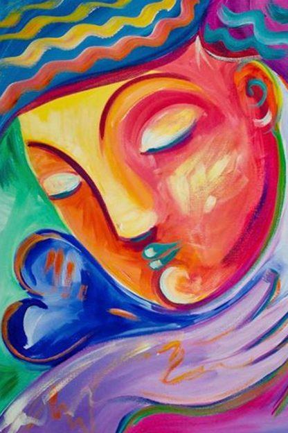 Színes buddha