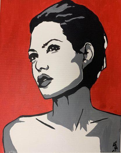 Angelina Jolie portré