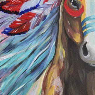 színes csataló akrillal festve