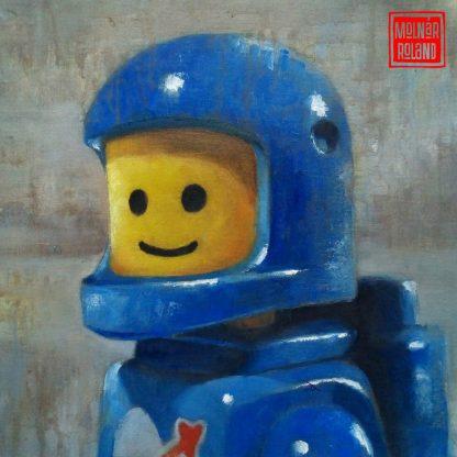 LEGO ember kék űrruhában