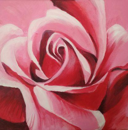 Akril festmény rózsa