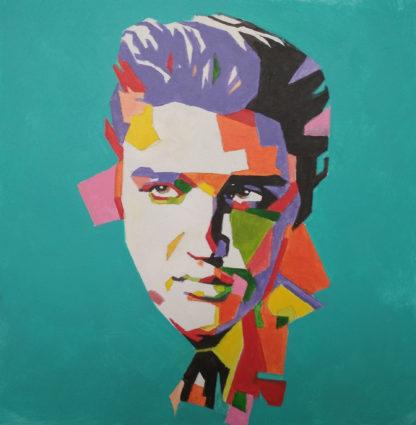 színes portrékép Elvis Presleyről