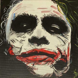 Joker arca vászonra festve