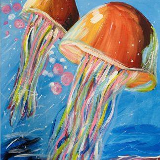 a képt tartalma: medúzák, tenger