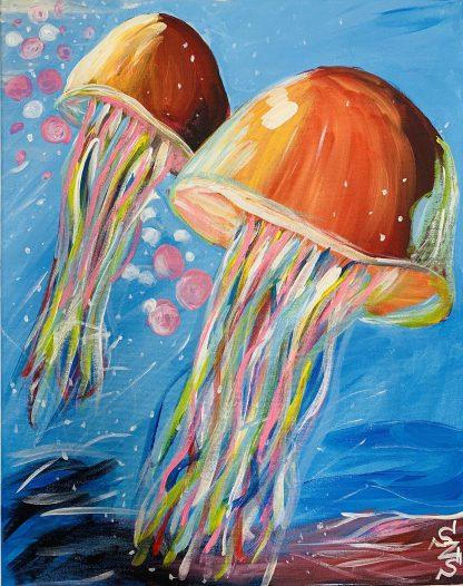 medúzák a tengerben