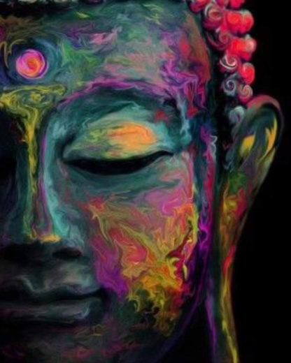 Színes Buddha festmény