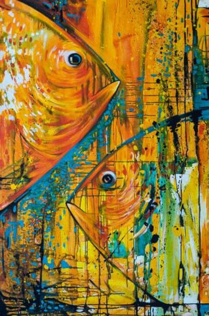 Két sárga hal