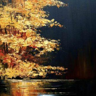 sárguló őszi fa