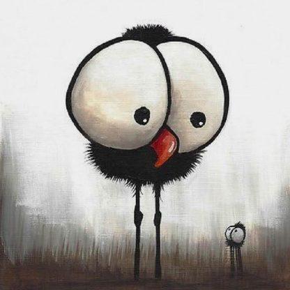 madár nagy fejjel