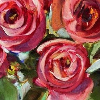 Vörös rózsacsokor
