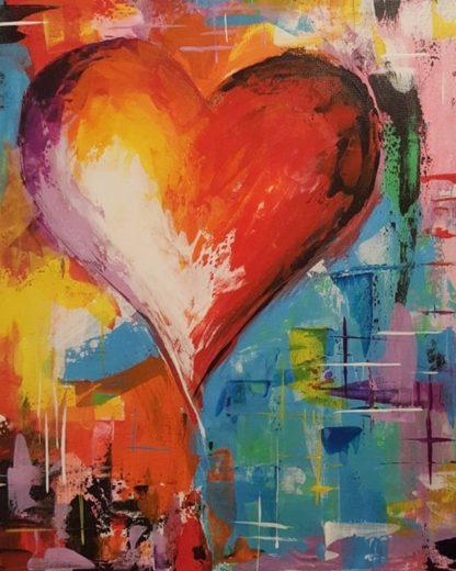 szív festmény