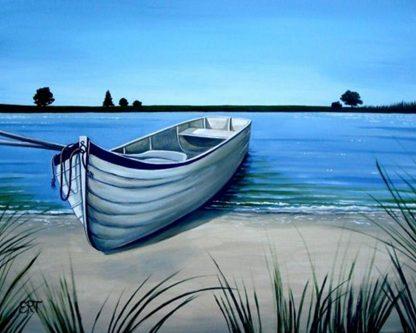 Csónak a vízparton