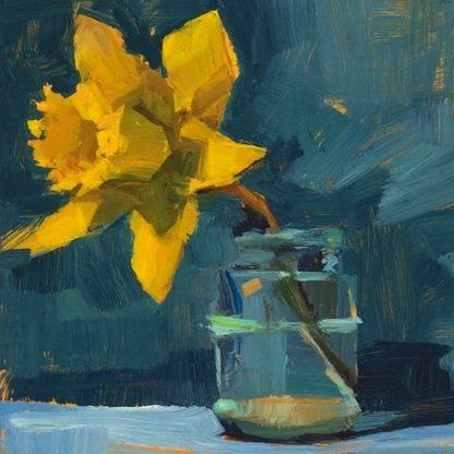 Sárga nárcisz olajfestmény