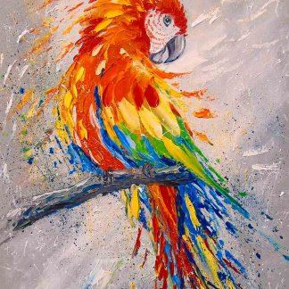 Papagáj az ágon