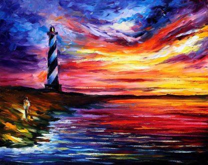 Világítótorony a naplementében