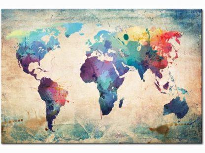 Színes Föld térkép