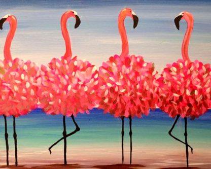Flamingók állnak
