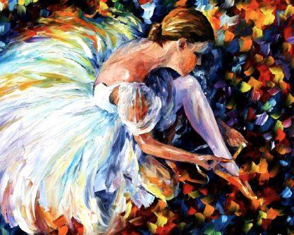 balerina fehér ruhában