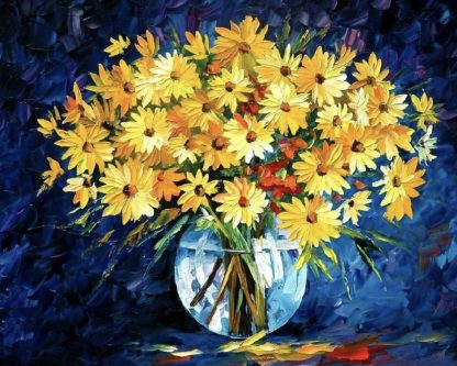 sárga virágok vázában