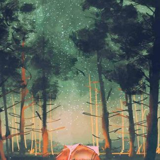 sátor az erdőben