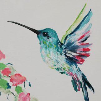 színes kolibri madár