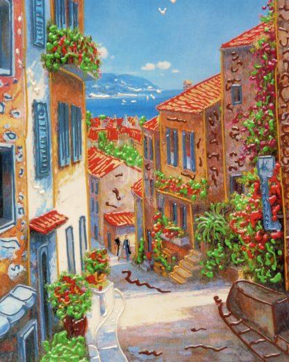 mediterrán hangulatú városkép