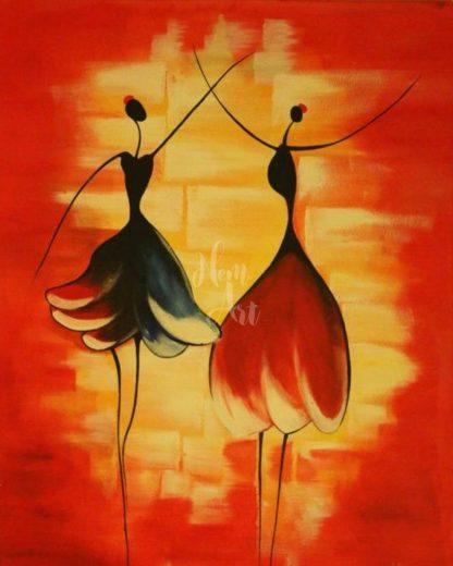 két táncoló nő