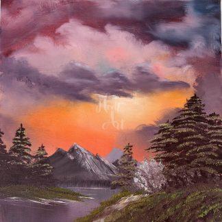 tájkép naplementében