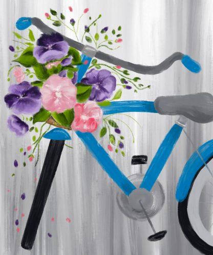 kerékpár virágokkal