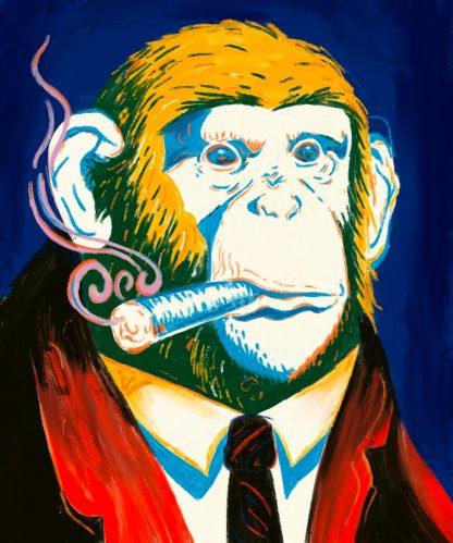 szivarozó majom