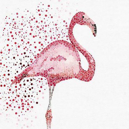 flamingó rózsaszín pöttyökből festve