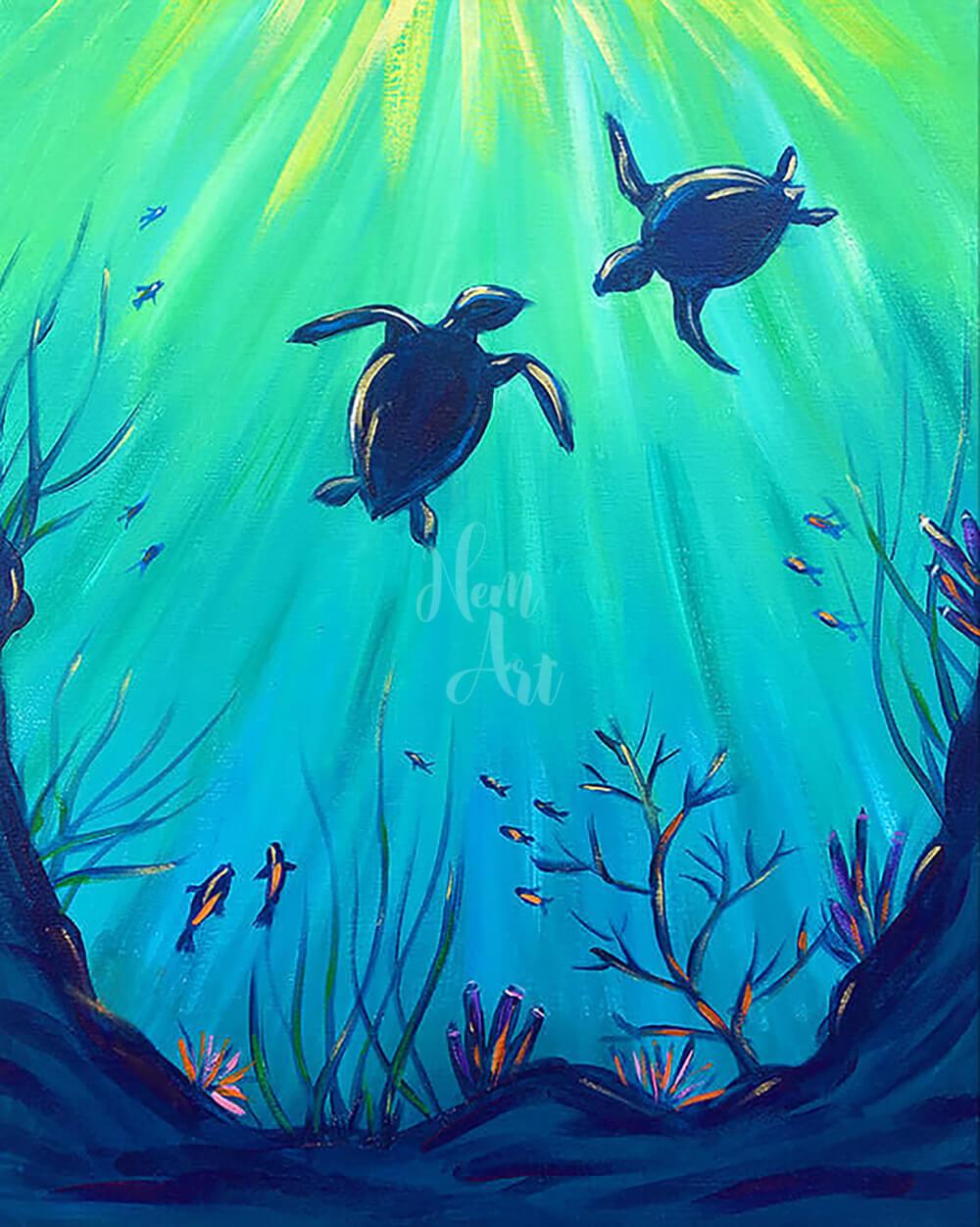 underwater painting easy - 765×956