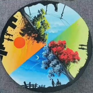 négy részre osztott festmény