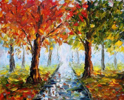 őszi hangulatú tájkép
