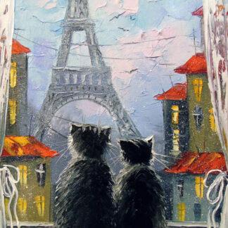 két cica az ablakban