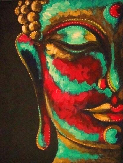 vörös buddha portré
