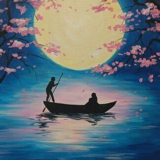 szerelmes pár csónakban