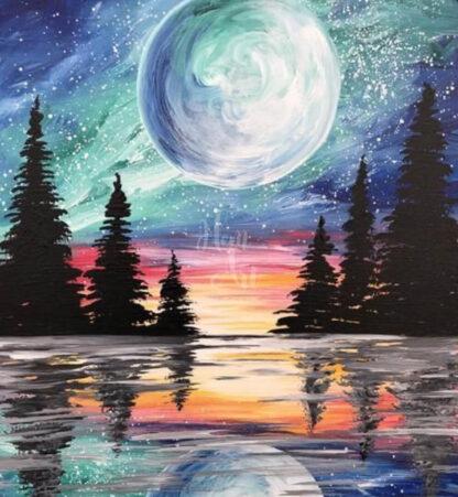 holdvilágos tájkép