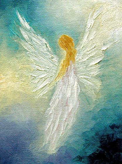 a kép egy absztrakt angyalt ábrázol