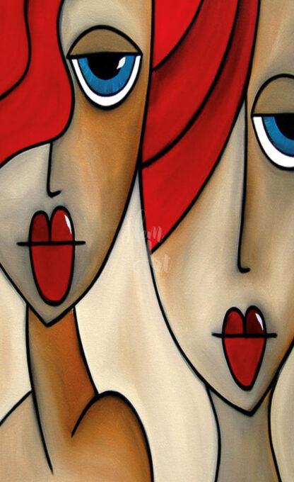 a kép két női portrét mutat
