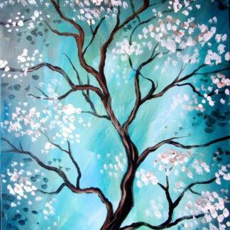 a képen virágzó fa látható