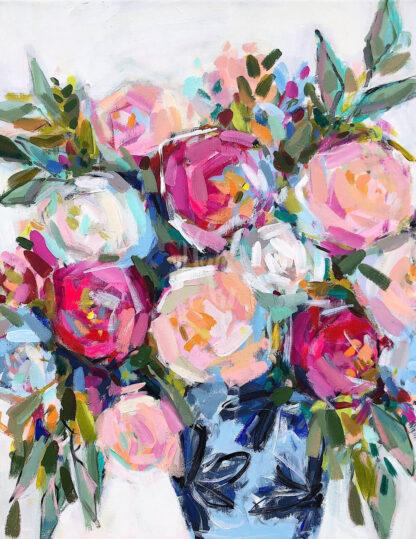 A képen színes virágcsokor látható