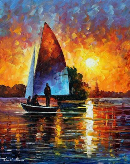 a kép tartalma: vitorlás, víz, naplemente