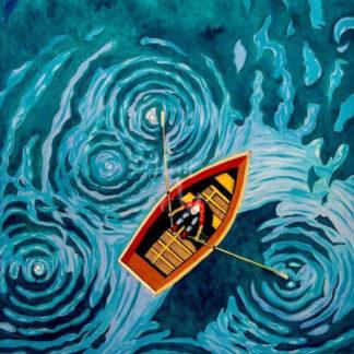 a kép tartalma: csónak, víz, lapátok, ember