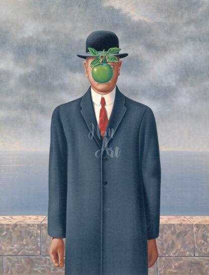 a kép tartalma: férfi, szürke öltöny, kalap, zöld alma