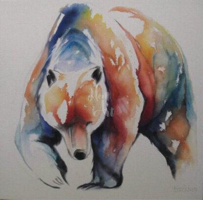 a kép tartalma: medve, színes foltok