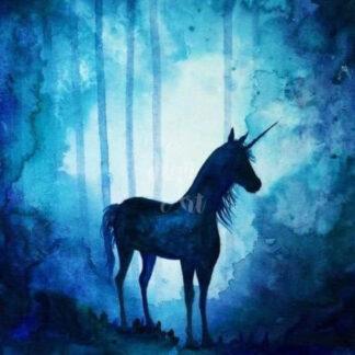 a kép tartalma: unikornis, erdő, éjjel, fények