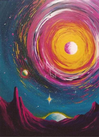 a kép tartama: űr, csillagos ég, bolygók, űrbéli táj