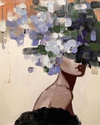 a kép tartalma: női portré, színes foltok
